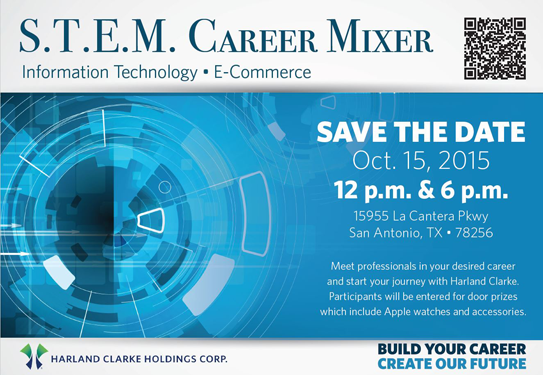 S.T.E.M. career mixer on October 15 at our corporate HQ. To RSVP, upload your resume to job opening #1500443