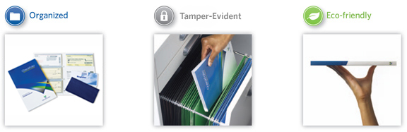 Checkfolio Organized Tamper-Evident Ecofriendly
