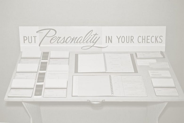 personality in checks display 1980s